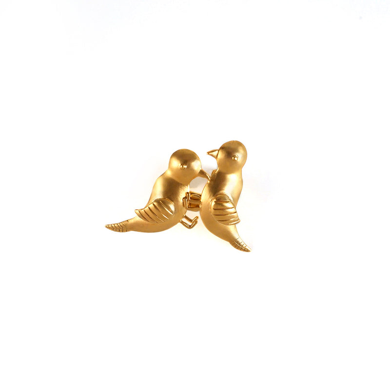 GOLD PLATED 2 BIRD RING