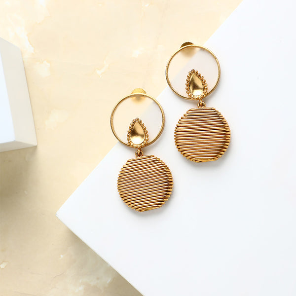 Layered lines earring with Acrylic Worn by Anushka Sharma