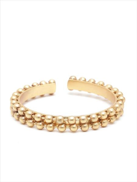 Gold Toned Ball Bead Bangle