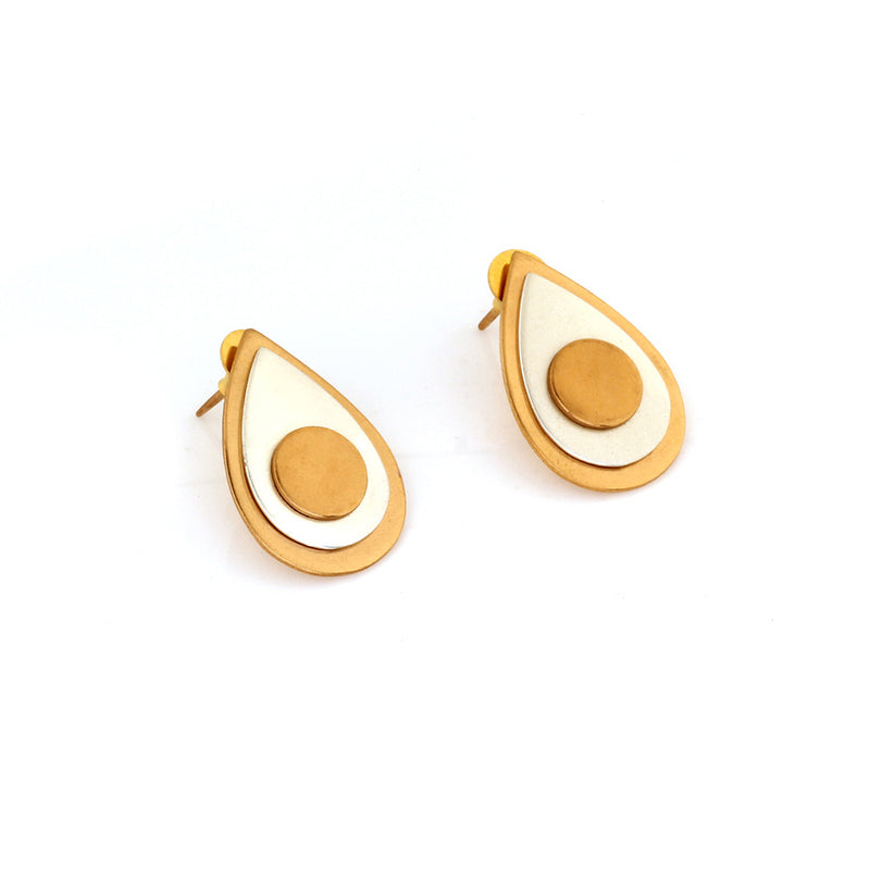 gold-&-silver-toned-double-drop-stud-earrings
