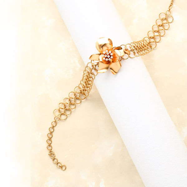 gold-gardenia-links-choker-necklace