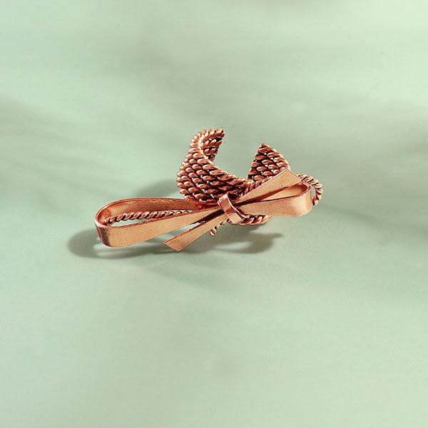 Rose-Gold Toned Bow Ring