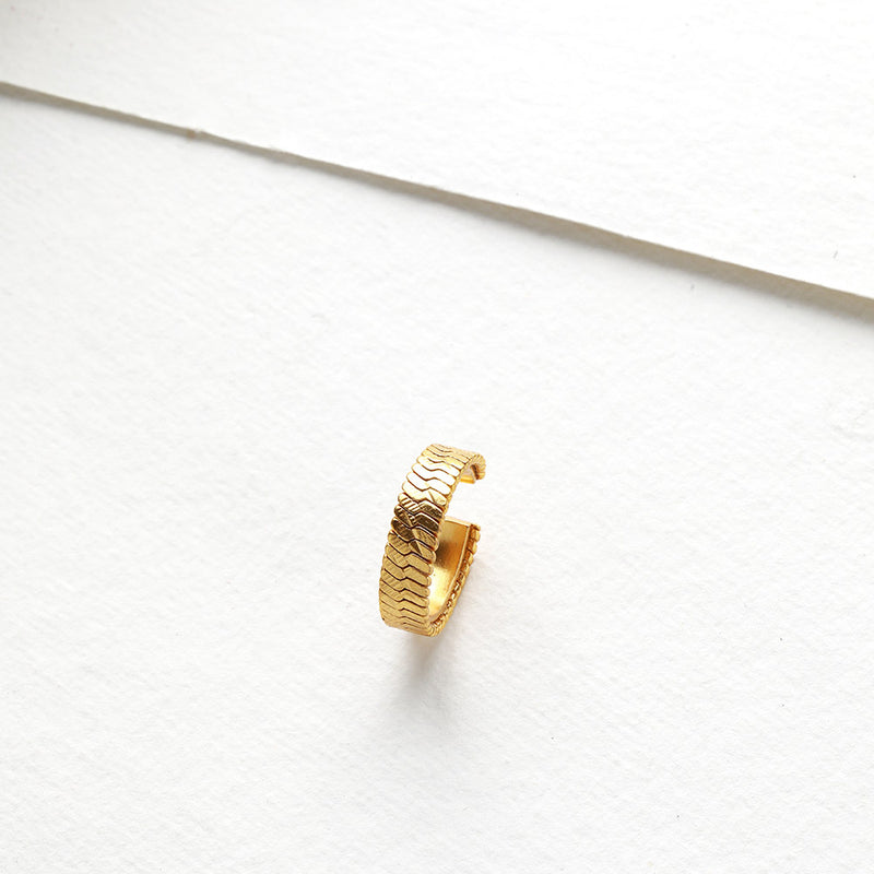 Gold Toned Tread Ring