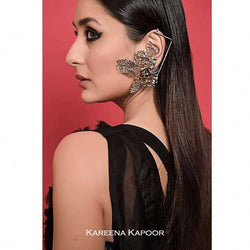 Silver Toned Swirl Tribal Ear Cuffs worn by Kareena Kapoor at Lakme Fashion Week