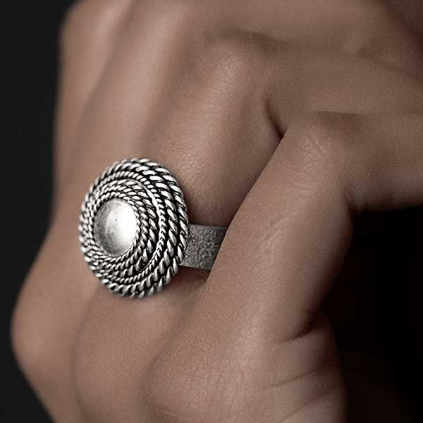 Sterling Silver Circles Ring
