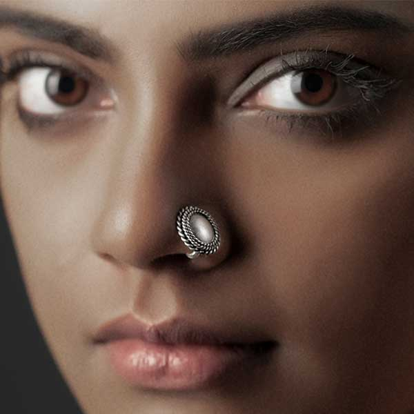 Sterling Silver Circles Nose Ring