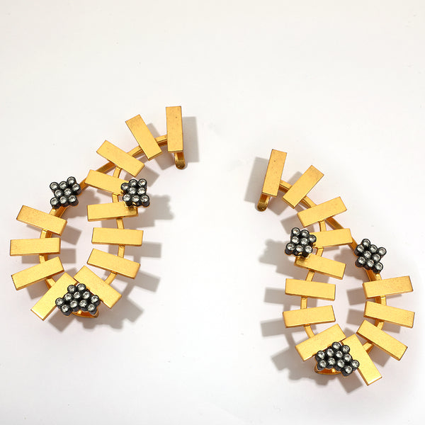 Golden ridge ear cuffs