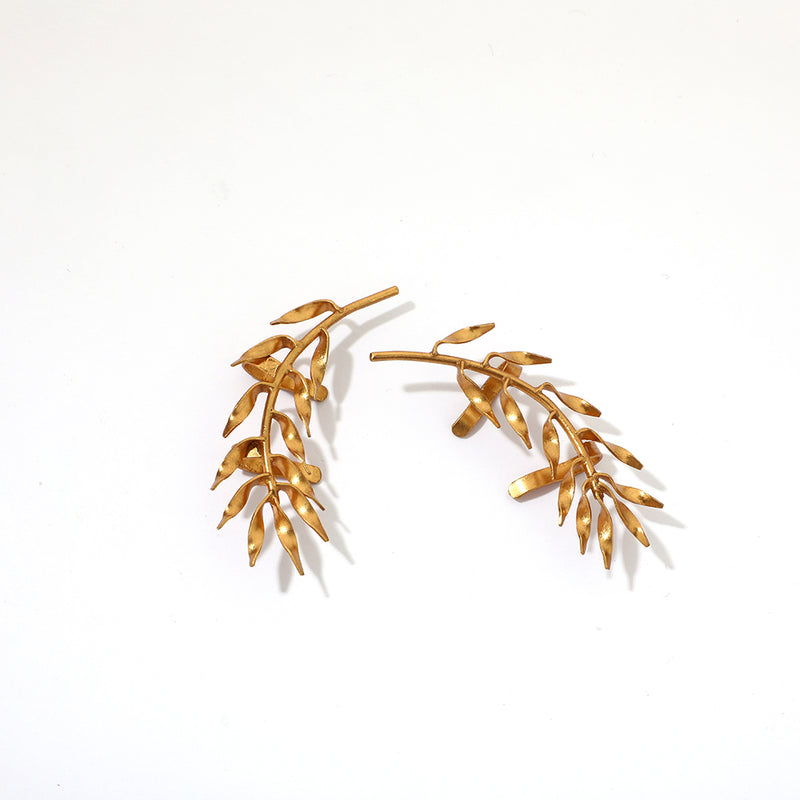 Bright bloom ear cuffs