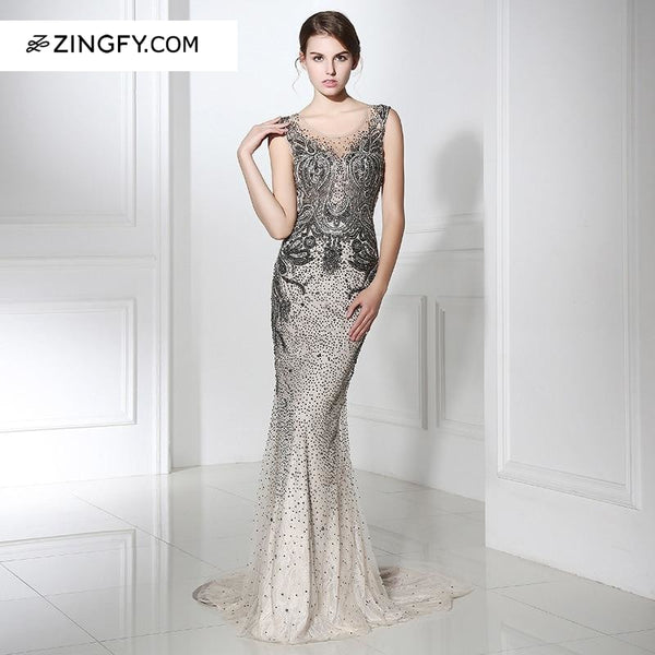 Elizabeth Mermaid Style Statement Cocktail Gown