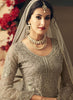 Light Grey Embroidered Sharara Style Salwar Kameez