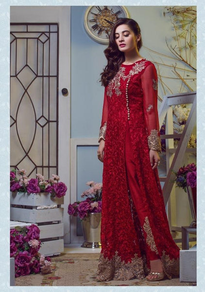 Replica - Imrozia Red Party Wear Pakistani Suit