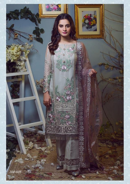 Replica - Imrozia Nude Pink Party Wear Pakistani Suit