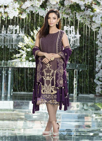 Replica - Eshaal Violet Party Wear Pakistani Suit