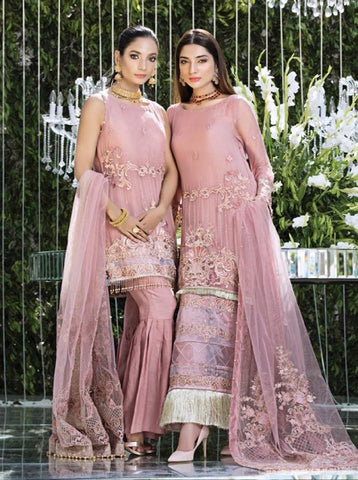 Replica - Eshaal Dull Pink Party Wear Pakistani Suit