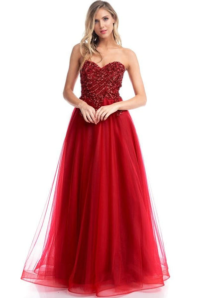 Alia Sweetheart Sequin Ball Gown