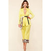 Camila Light Yellow Two Piece Blazer Set