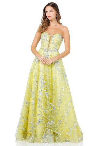 Lime Cinderella Style Stand Out Prom Dress