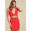 Gal Waist Cut Out Sleeveless Bodycon Dress