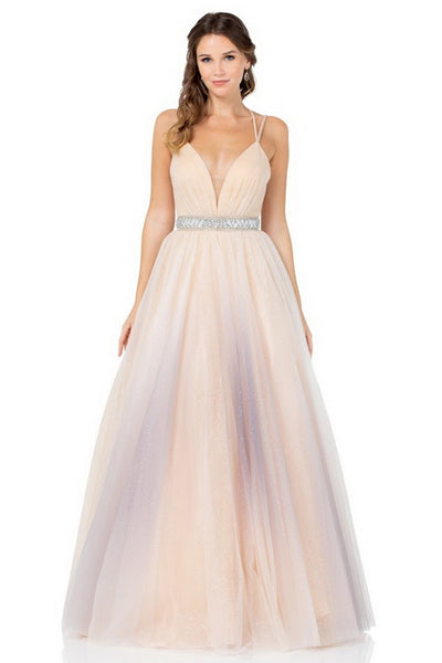 Taylor Champagne Grey Glitter Tulle Ball Gown