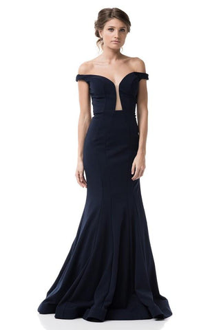Angelina Bold Plunged Neck Sweetheart Backless Mermaid Dress