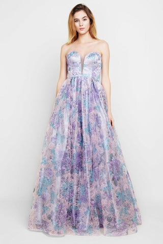 Janhvi Lilac Bliss Sweetheart Ball Gown