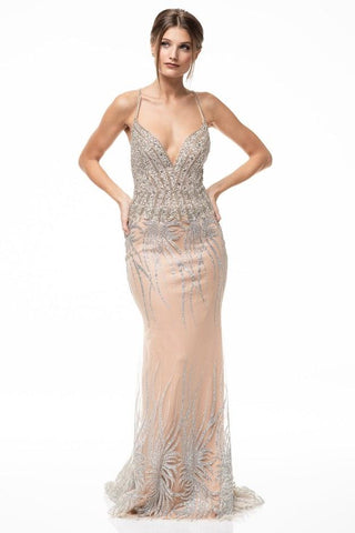 Hailey Sweetheart Backless Beaded Floor Length Dress