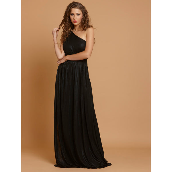 Zingfy Sexy Black One-Shoulder Long Dress