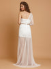 White Celebrity Style Summer Lace One Shoulder Long Dress