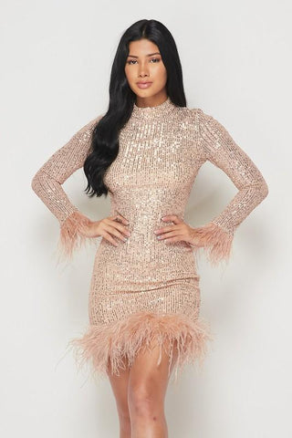 Kayleigh Sequin Mini Dress