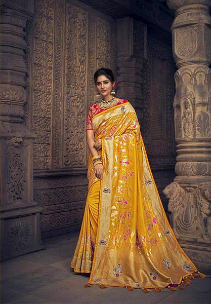 Heavy Gold Pure Dola Silk Saree