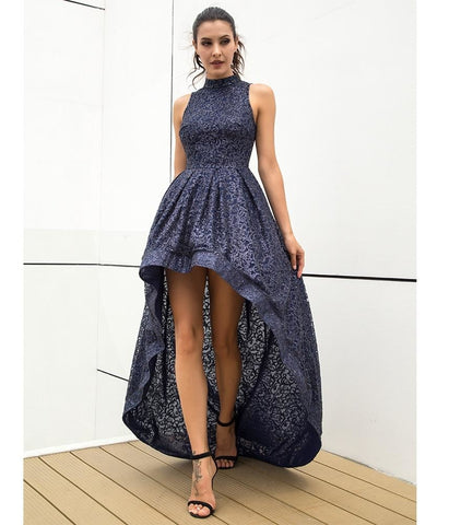 Sexy Navy Glitter Sleeveless Party Dress