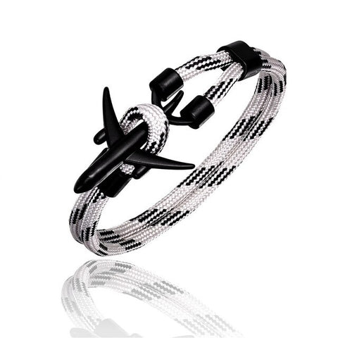 High Quality Airplane Shape Bracelets in Mixed Colours (Black)