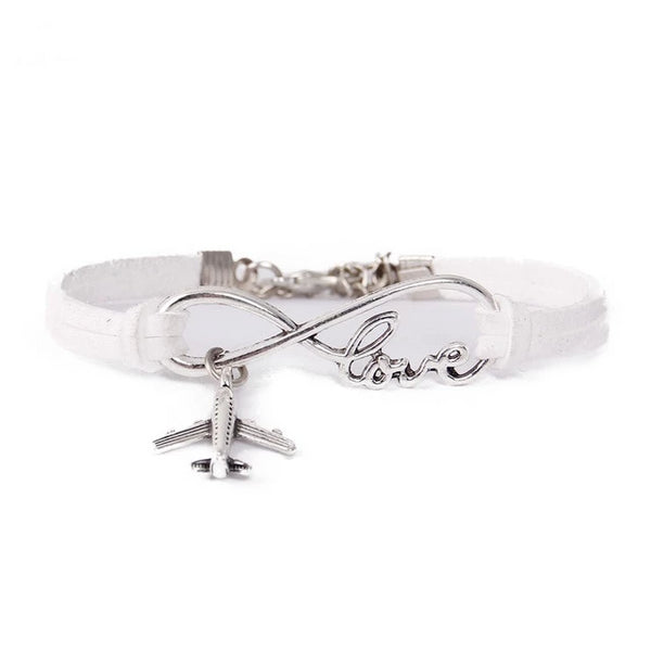 Infinity Love & Airplane Designed Bracelet