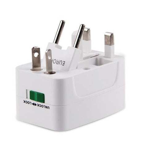 All in One Universal International Plug Adapter  + 2 USB