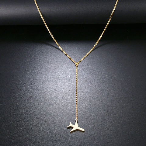 Stainless Steel Necklace For Women - Plane Necklace