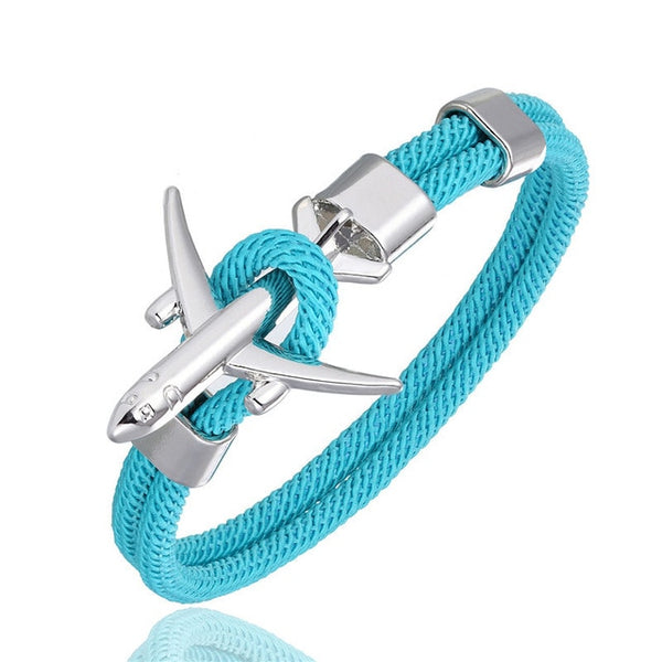 High Quality Airplane Shape Bracelet (Silver)