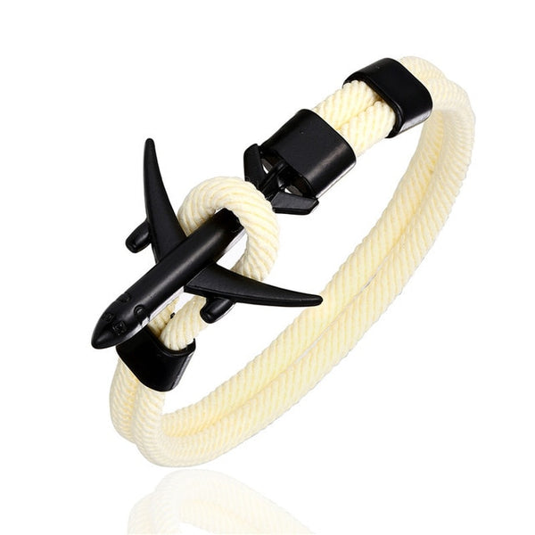 High Quality Airplane Shape Bracelet (Black)