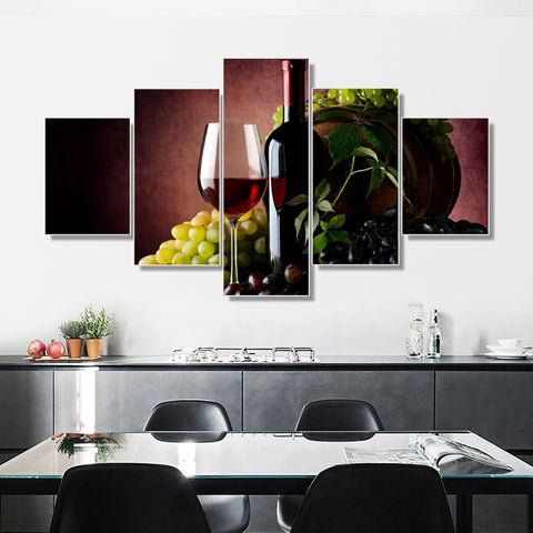 Canvas Poster Wine & Grapes - louonvine