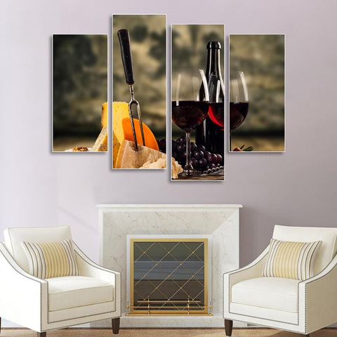 Canvas Poster Charming Wine - louonvine