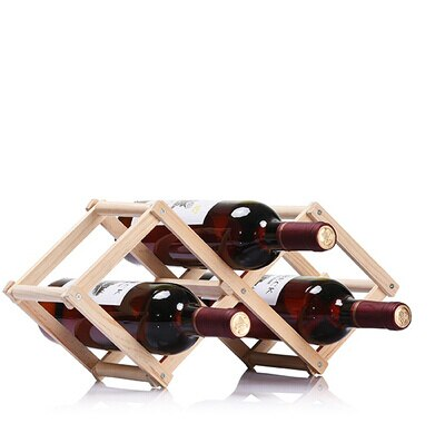 Squared Wood Stand 3 bottles - louonvine