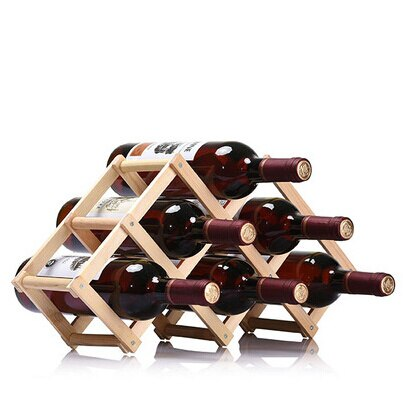 Triangle Wood Stand 6 bottles - louonvine