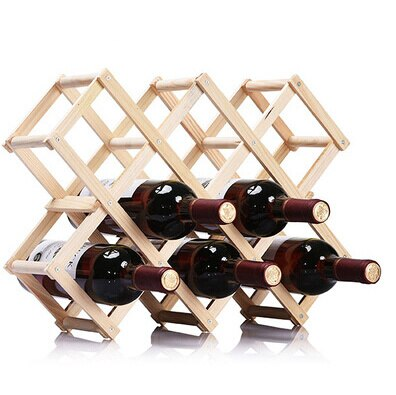Squared Wood Stand 10 bottles - louonvine