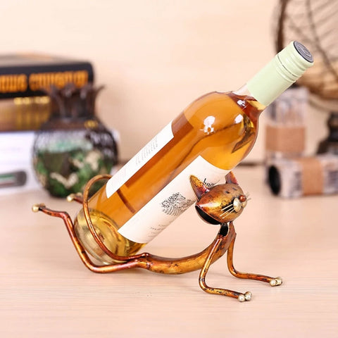 Yoga Cat Wine Bottle Holder - louonvine