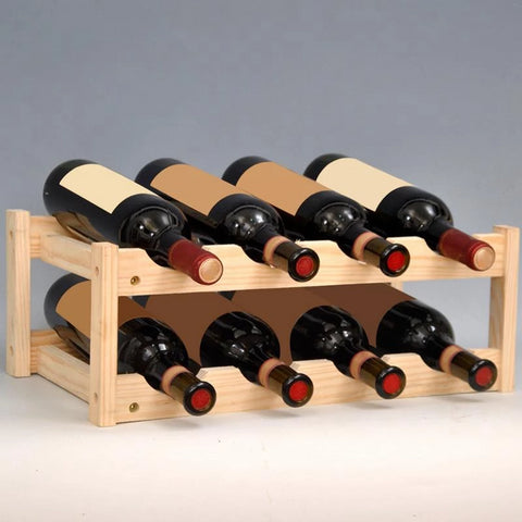 Wood Wine Stand 8 bottles - louonvine