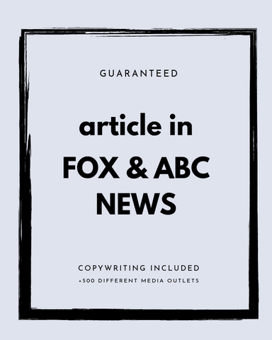 Press Release on FOX + ABC + 500 News Outlets