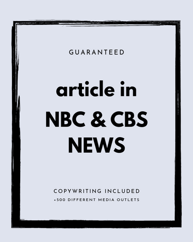 Press Release on NBC+ CBS + 500 News Outlets