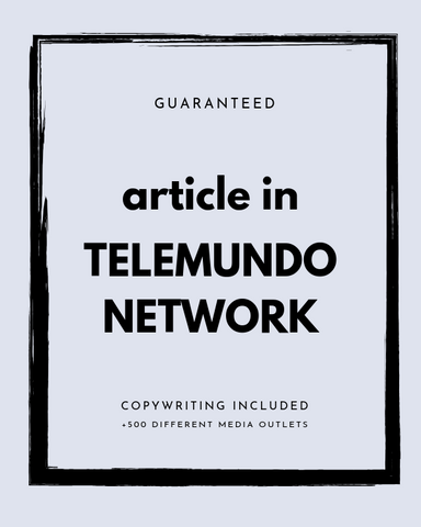 Press Release on Telemundo + 500 News Outlets