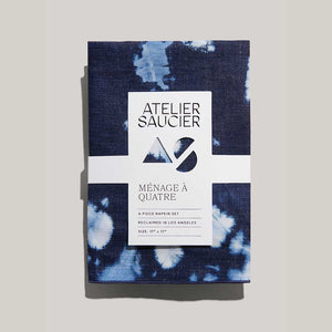TIE DYE DENIM NAPKIN SET OF 4