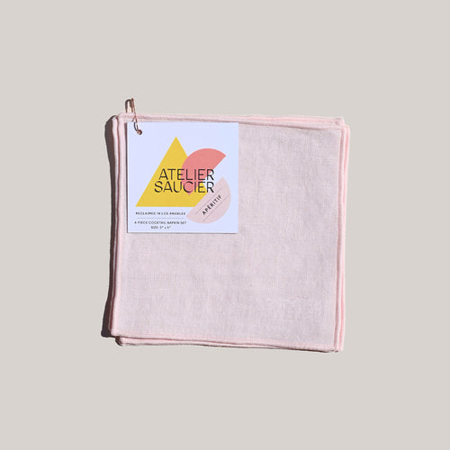 BLUSH LINEN COCKTAIL NAPKINS
