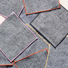 Load image into Gallery viewer, RAINBOW CHAMBRAY COCKTAIL NAPKINS, SET OF 4